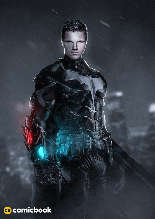 New Concept Art Imagines Robbie Amell As Gotham's Dark Knight