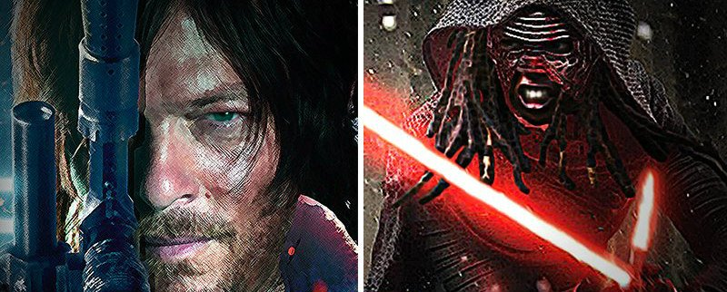 The Walking Dead Celebrates Star Wars Day With Awesome Crossover Pic