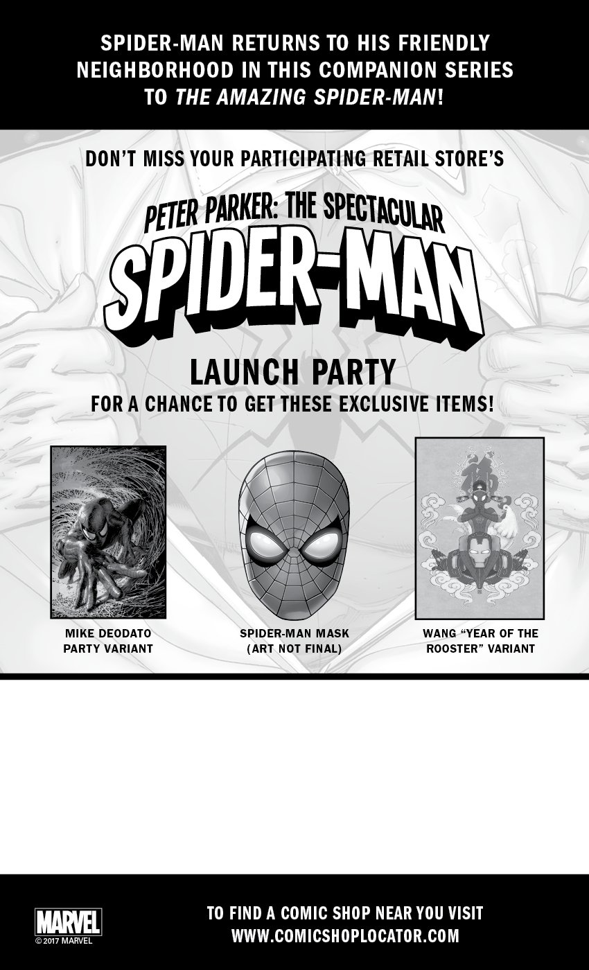 Marvel Announces Peter Parker: The Spectacular Spider-Man #1 Launch Parties