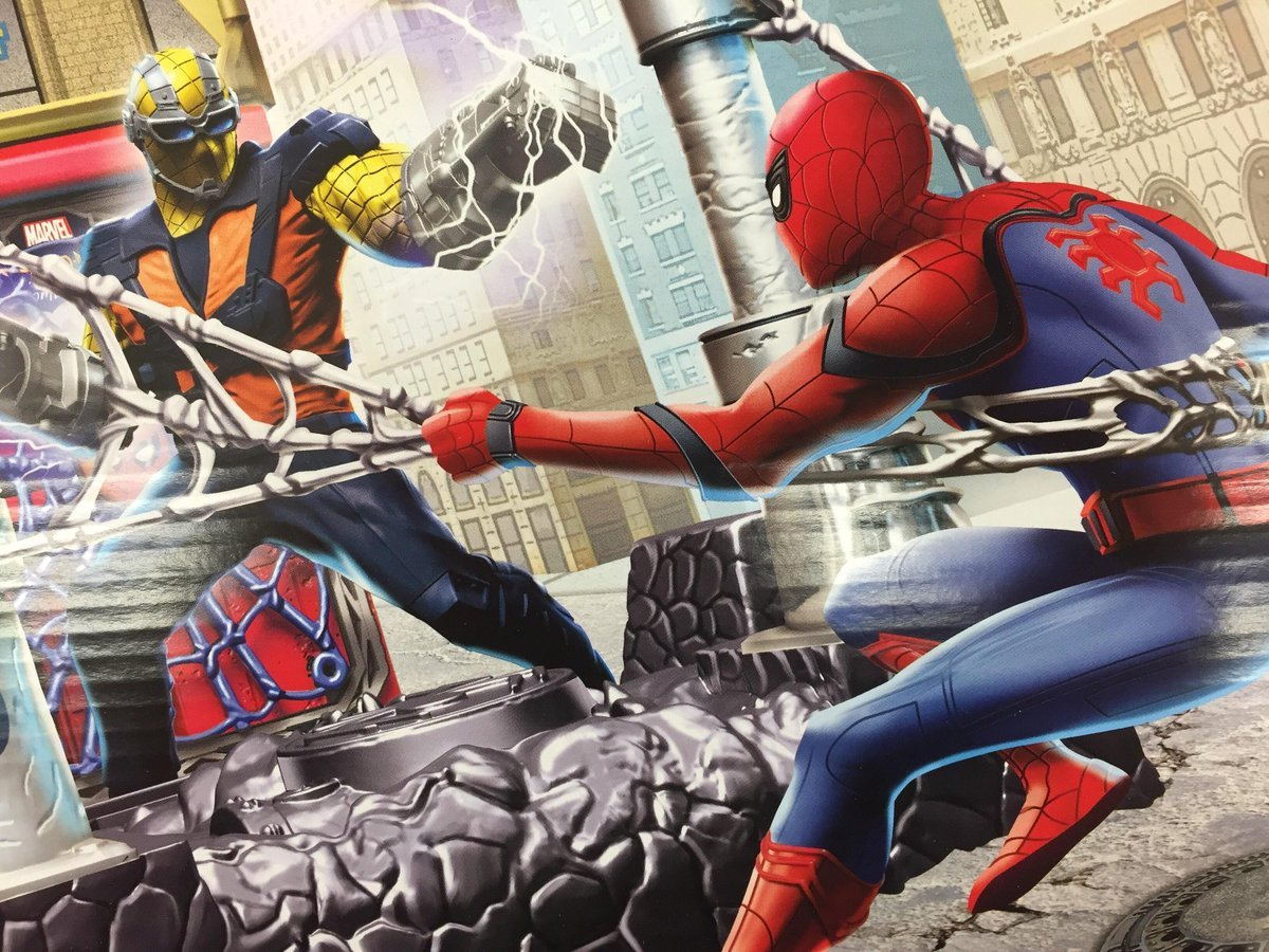 The Wall-Crawler Catches His Breath On Spider-Man: Homecoming Standee; New Artwork Features The Shocker