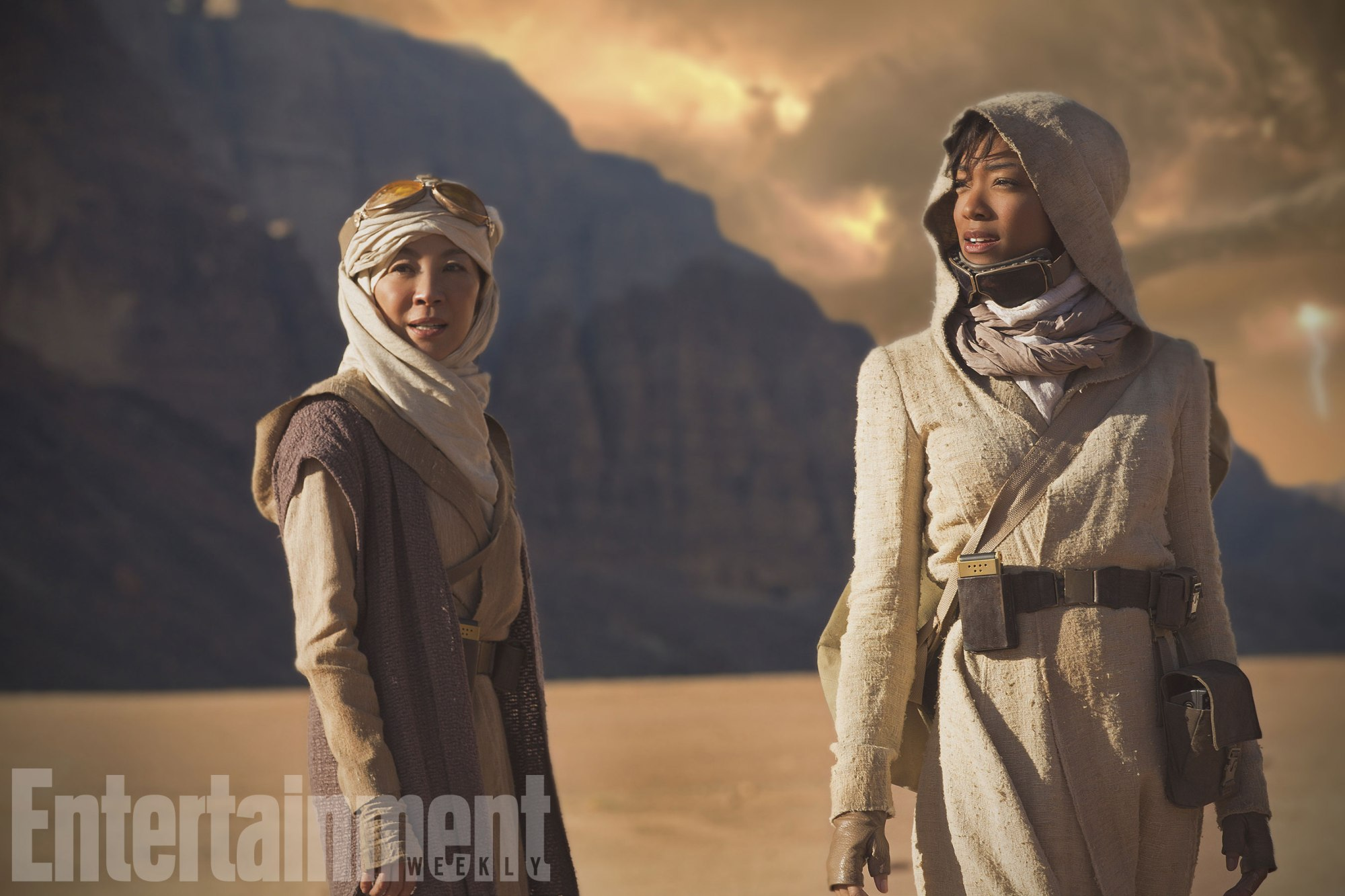 First Officer Michael Burnham Beams Down To A Desert Planet In Official Star Trek: Discovery Pic