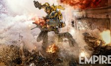 Bumblebee And Barricade Go For Round Two In Transformers: The Last Knight Promo; Empire Rolls Out New Action Shot
