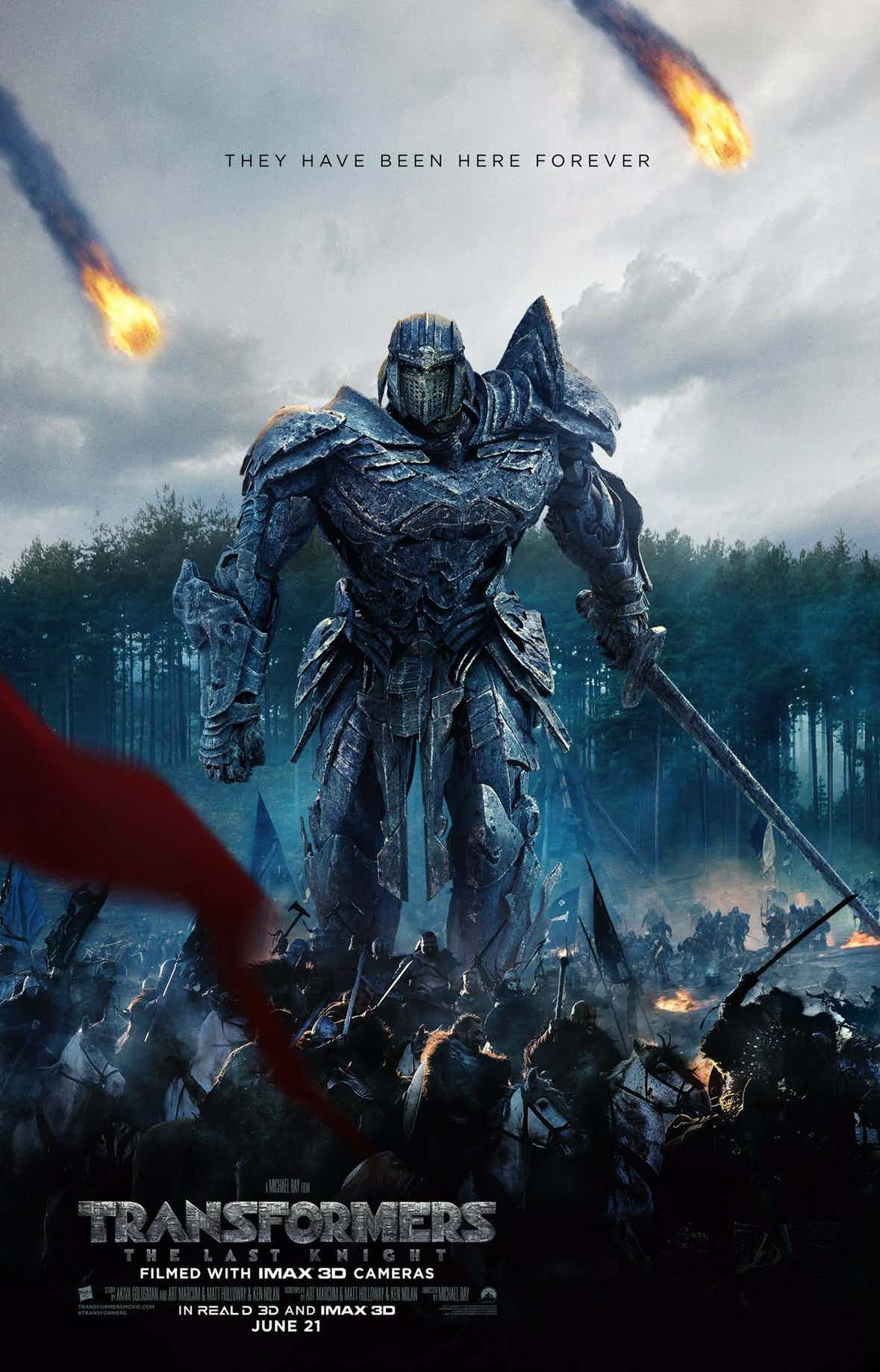 Medieval Poster For Transformers: The Last Knight Journeys Back In Time