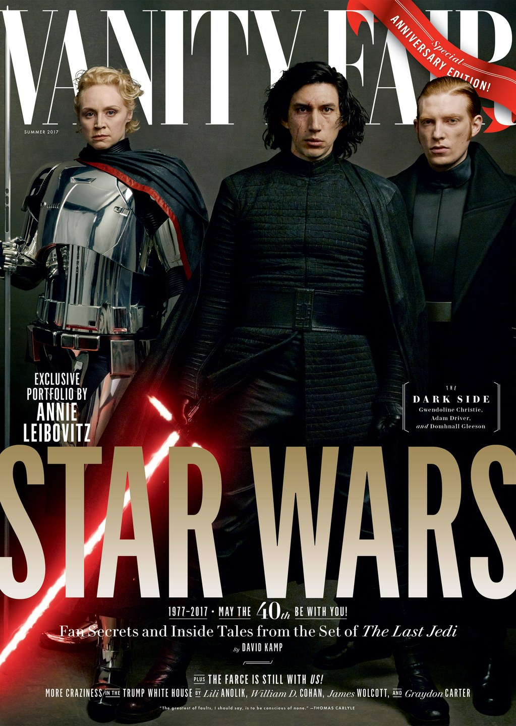 Star Wars: The Last Jedi Cast Feature On Four Annie Leibovitz Vanity Fair Covers