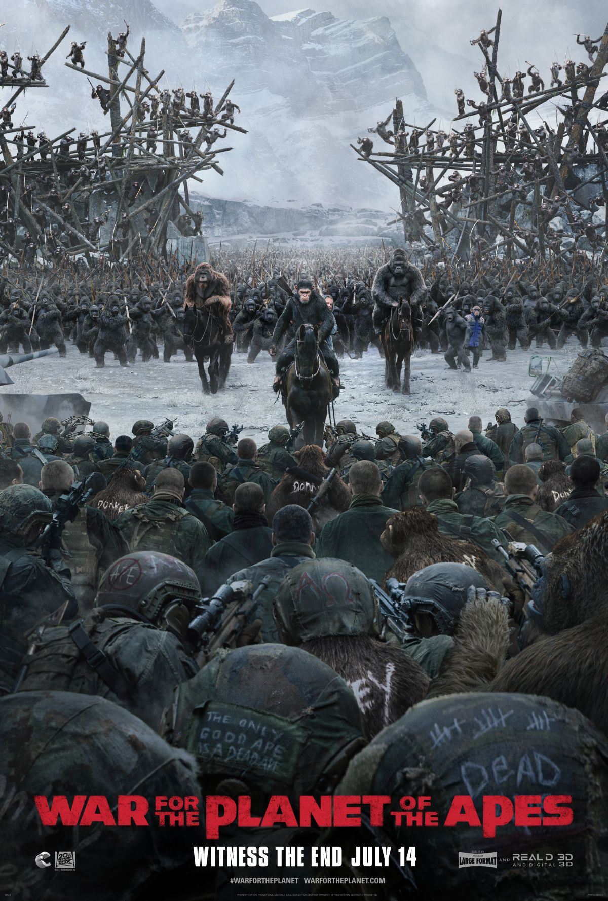 Two New War For The Planet Of The Apes TV Spots Spell Trouble For Caesar