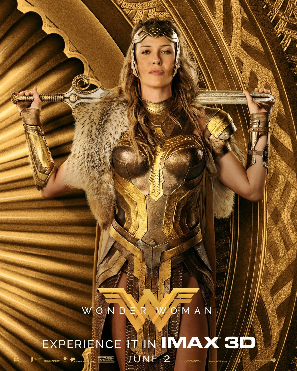 Golden IMAX Posters For Wonder Woman Gather The Film's Leading Ladies