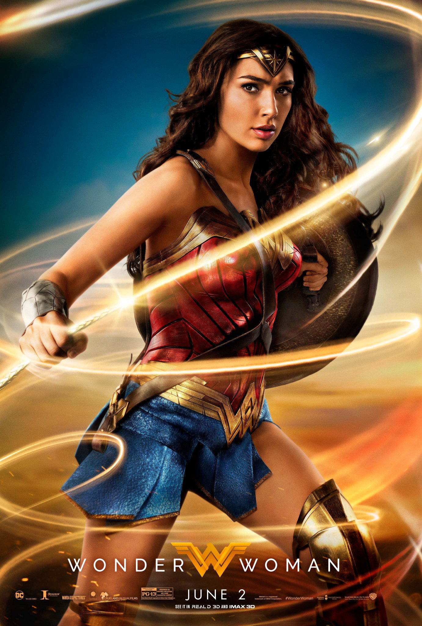 Wonder Woman Wields The Lasso Of Truth On Awesome New Poster