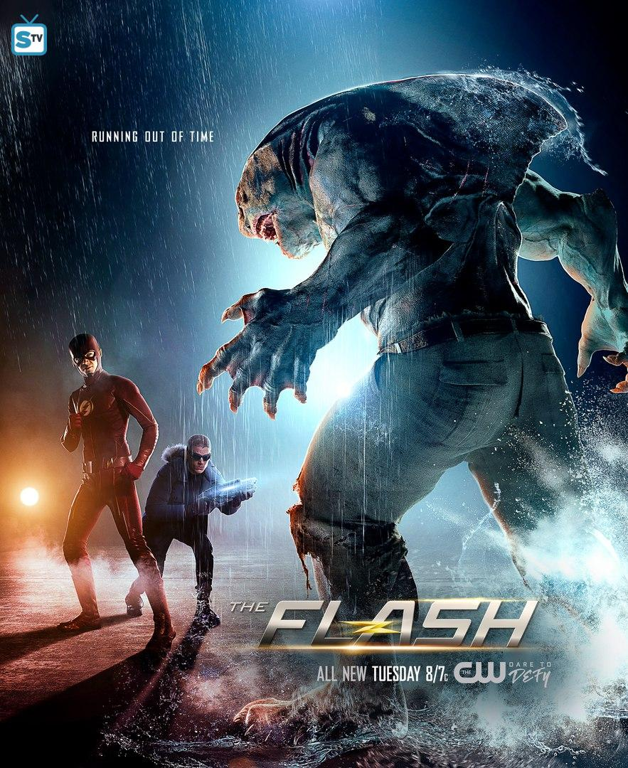 King Shark Confronts The Flash And Captain Cold On Stunning New Poster