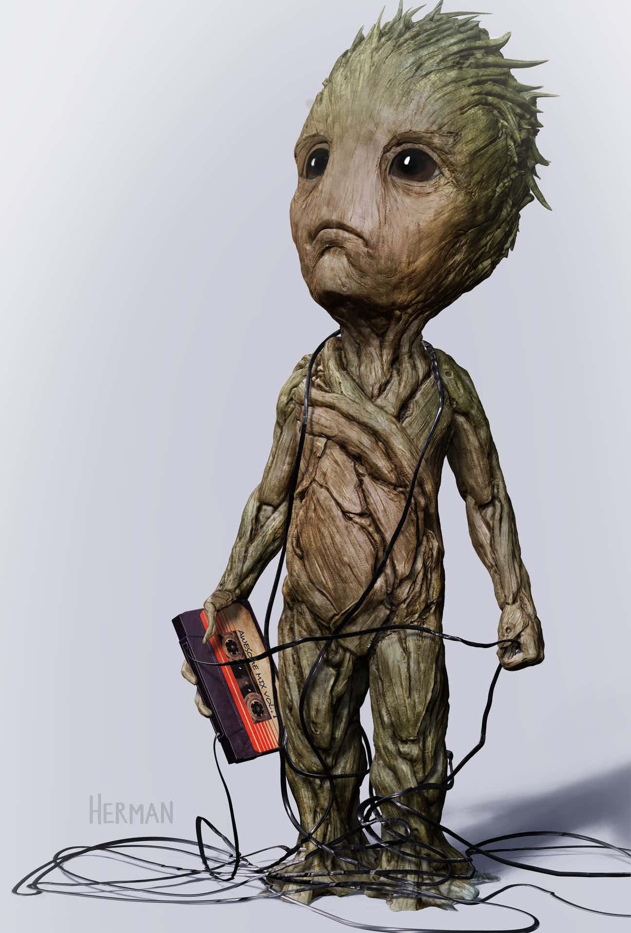 Guardians Of The Galaxy Vol. 2 Baby Groot Concept Art Will Melt Your Heart