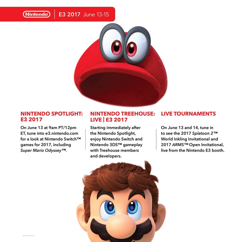 Nintendo Outlines Its Plans For E3 2017; Super Mario Odyssey To Be Playable