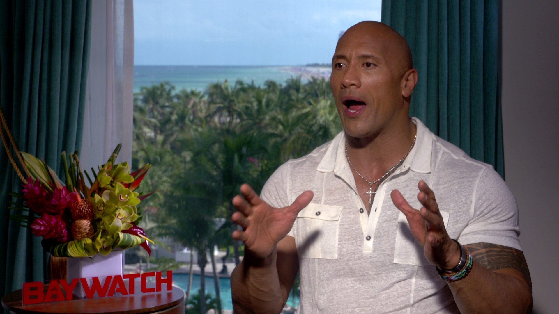 Exclusive Video Interview Dwayne Johnson Talks Baywatch And