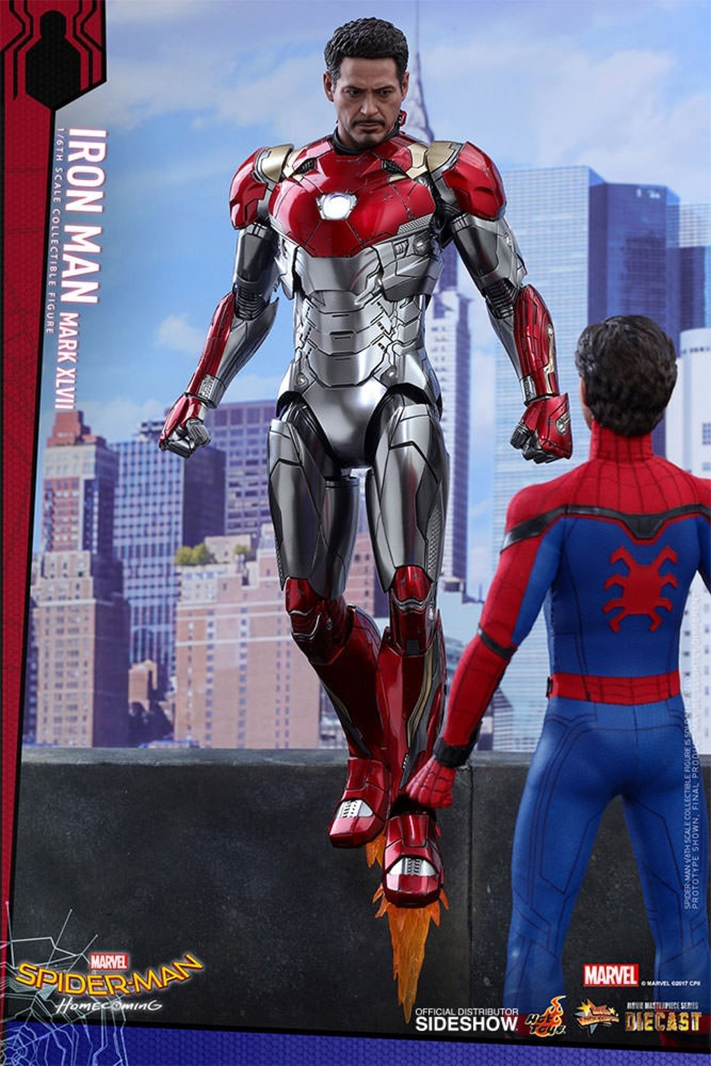 Hot Toys Figure Offers A Detailed Overview Of Iron Man's Mark XLVII As Two New Spider-Man: Homecoming Promos Scurry Online