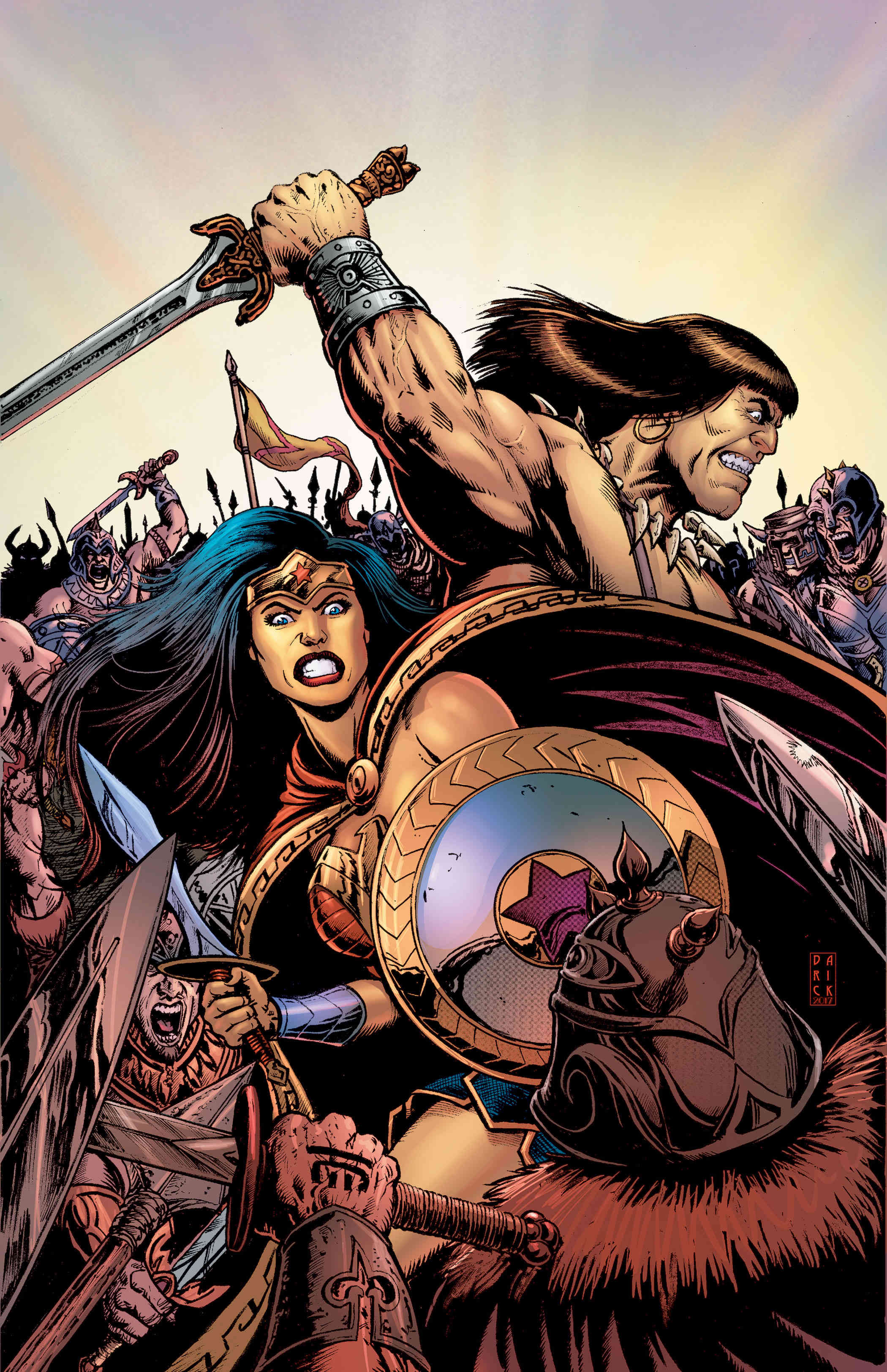 Legendary Warriors Unite In Wonder Woman/Conan Crossover