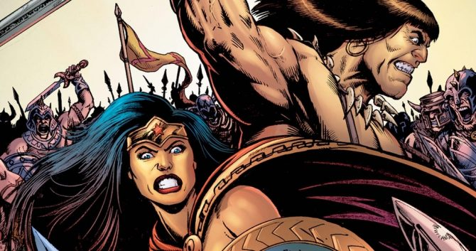 Wonder Woman and Conan the Barbarian Are Crossing Over
