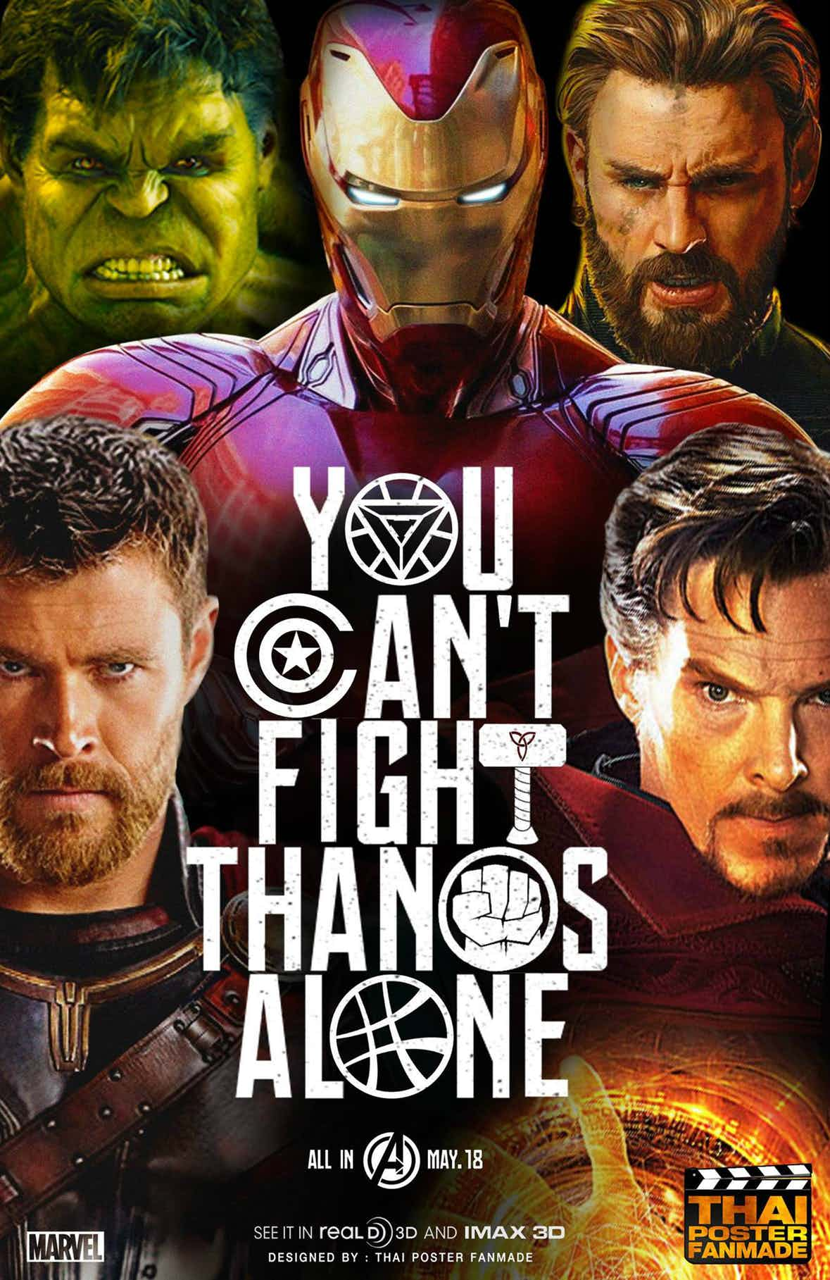fanmade poster for avengers infinity war zooms online