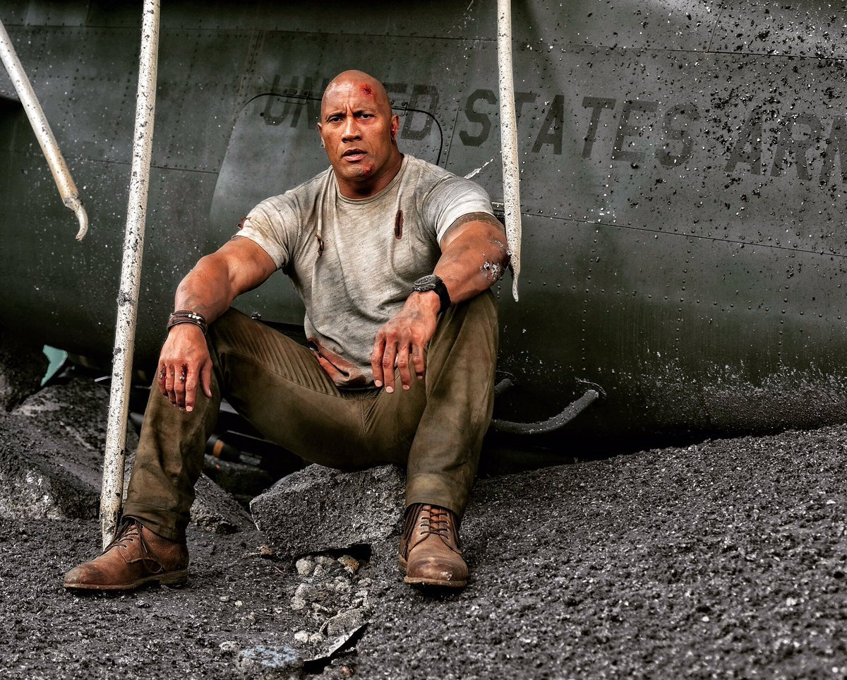 The Rock Looks A Little Worse For Wear In Latest Rampage Set Photo