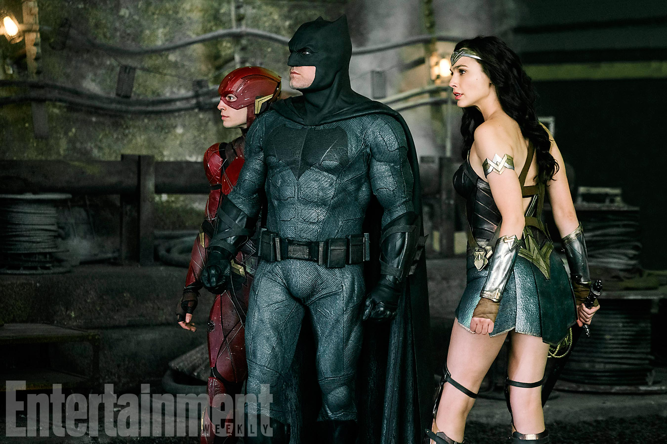 Justice League: The Scarlet Speedster Rubs Shoulders With Bats And Diana In New Pic