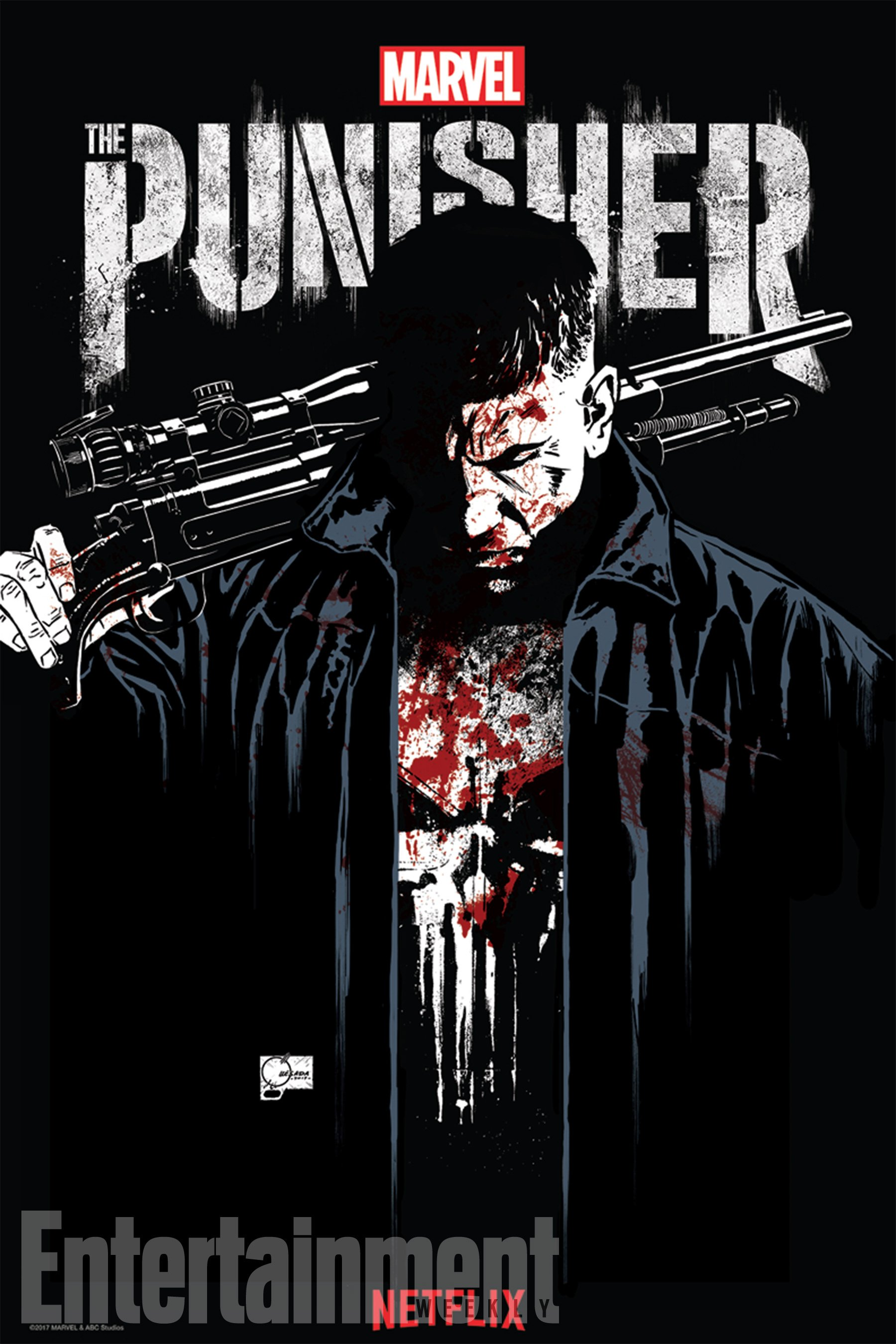 The Punisher: A Bloody Frank Castle Headlines SDCC Poster