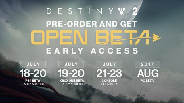 Here's All The Content Included In Destiny 2's Open Beta, Beginning July 21st For PS4 And Xbox One