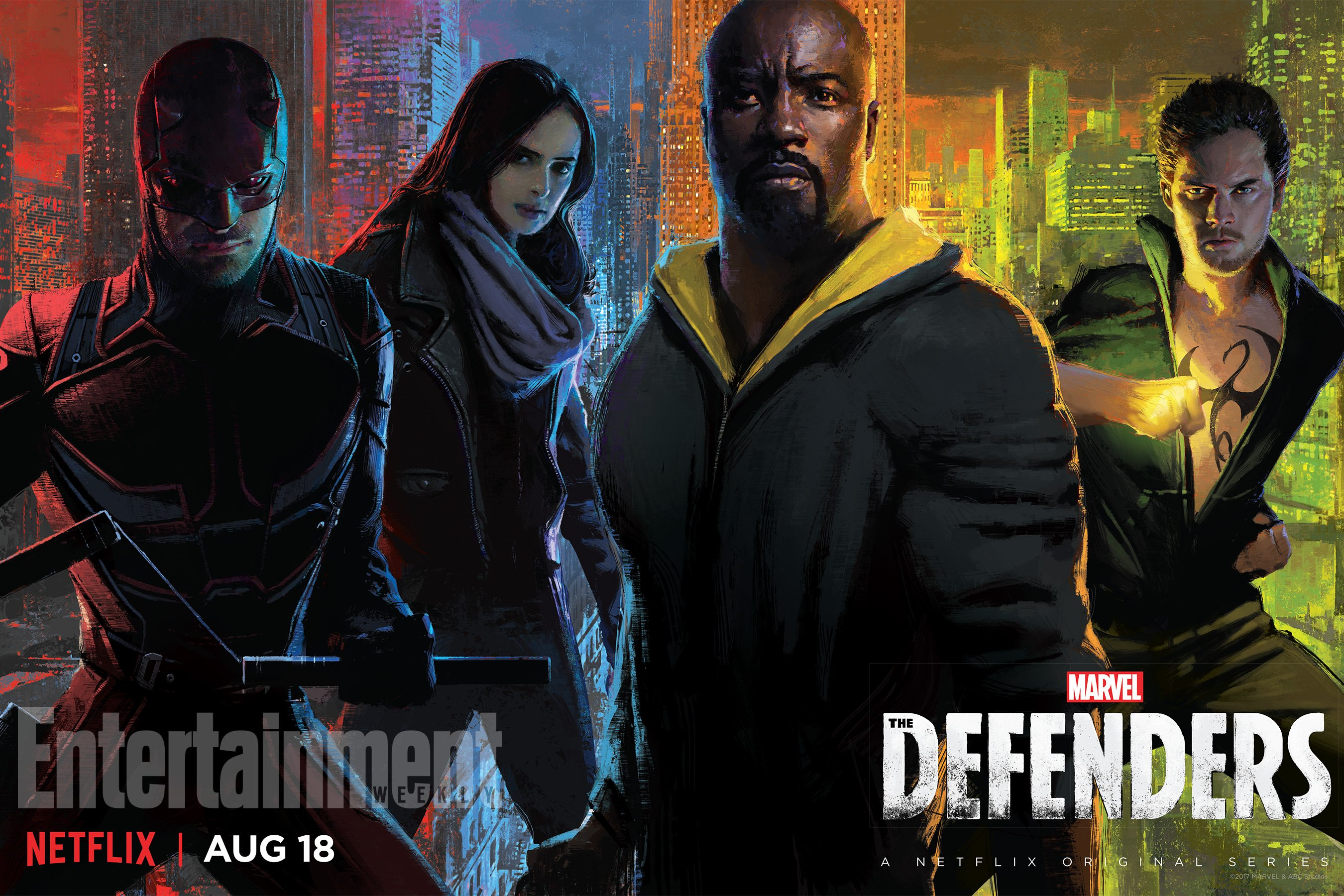 Stylish SDCC Poster For The Defenders Gathers Marvel's Street-Level Heroes