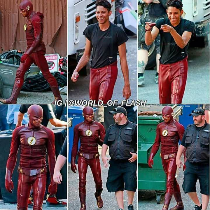 Keiynan Lonsdale Spotted Wearing New Costume In The Flash Set Photos