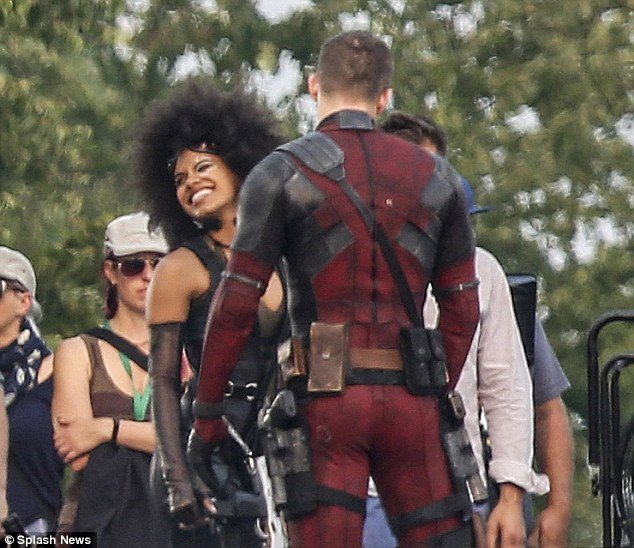 Latest Deadpool 2 Set Snaps Find The Merc And Domino Sharing A Laugh Between Takes