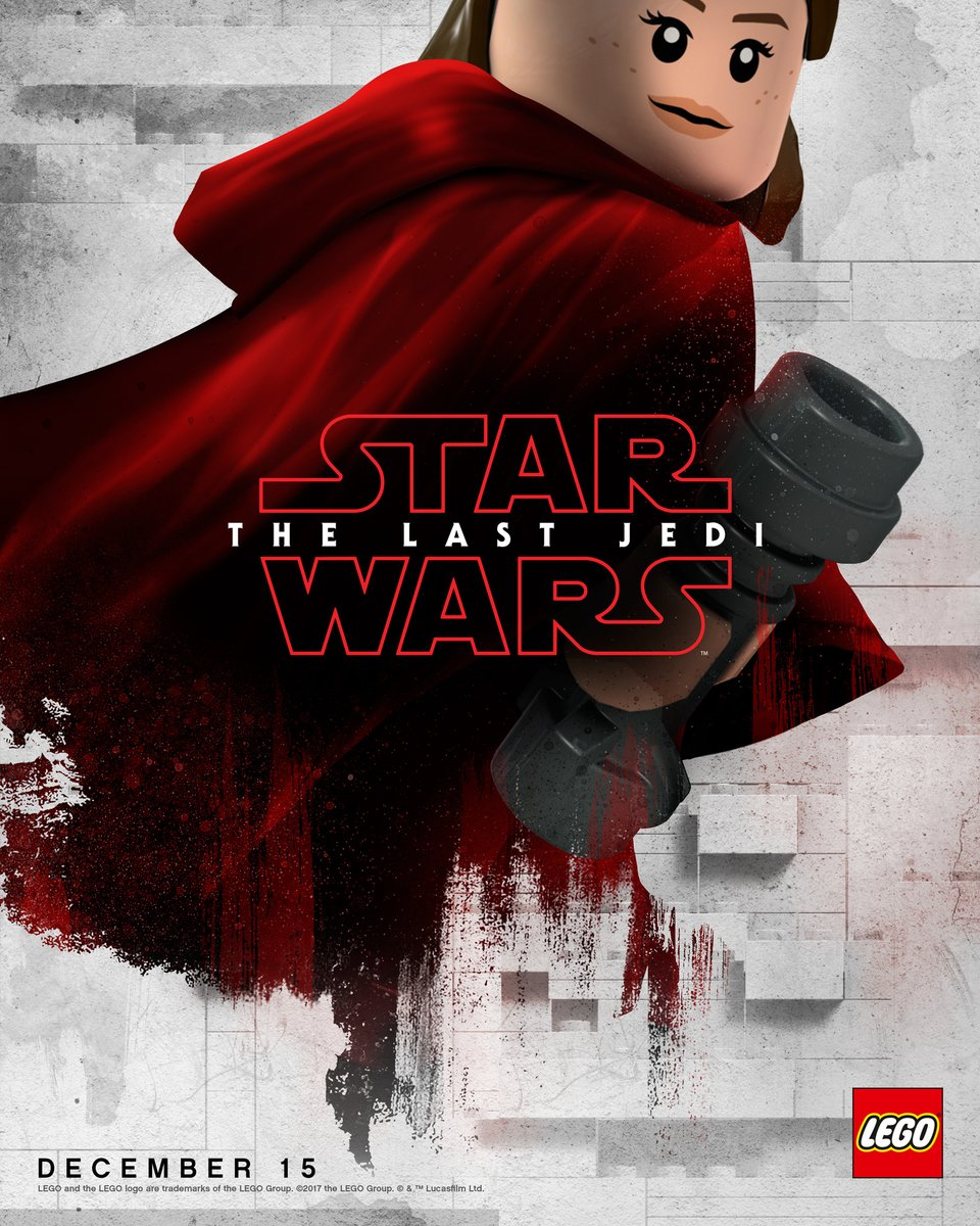 Star Wars: The Last Jedi's Blood-Red Posters Get The LEGO Treatment