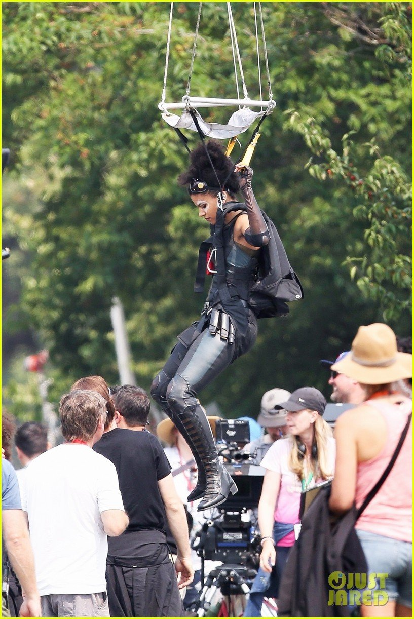 Domino Drops From The Sky In New Deadpool 2 Set Pics