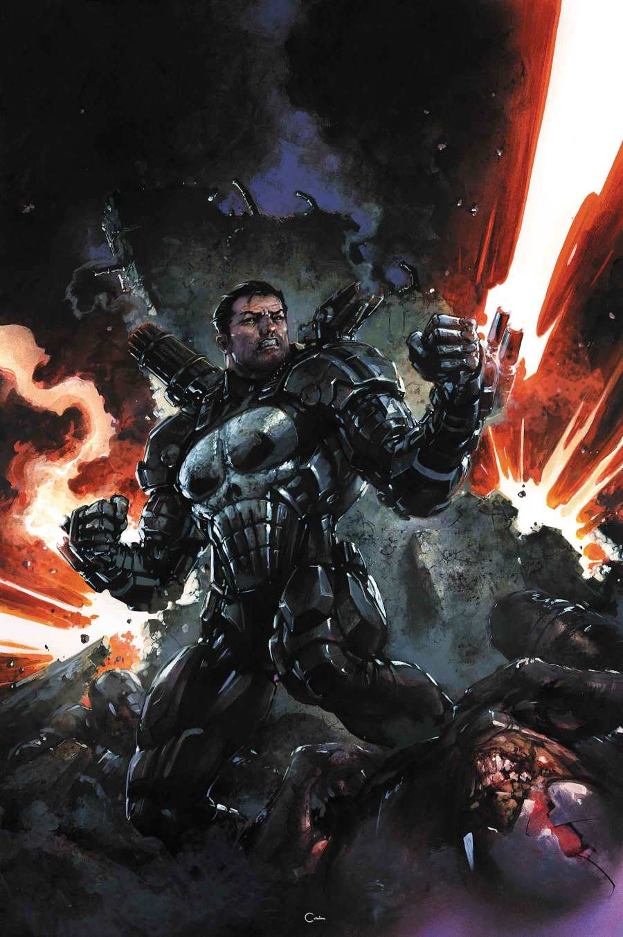 The Punisher Dons War Machine Armor This Fall