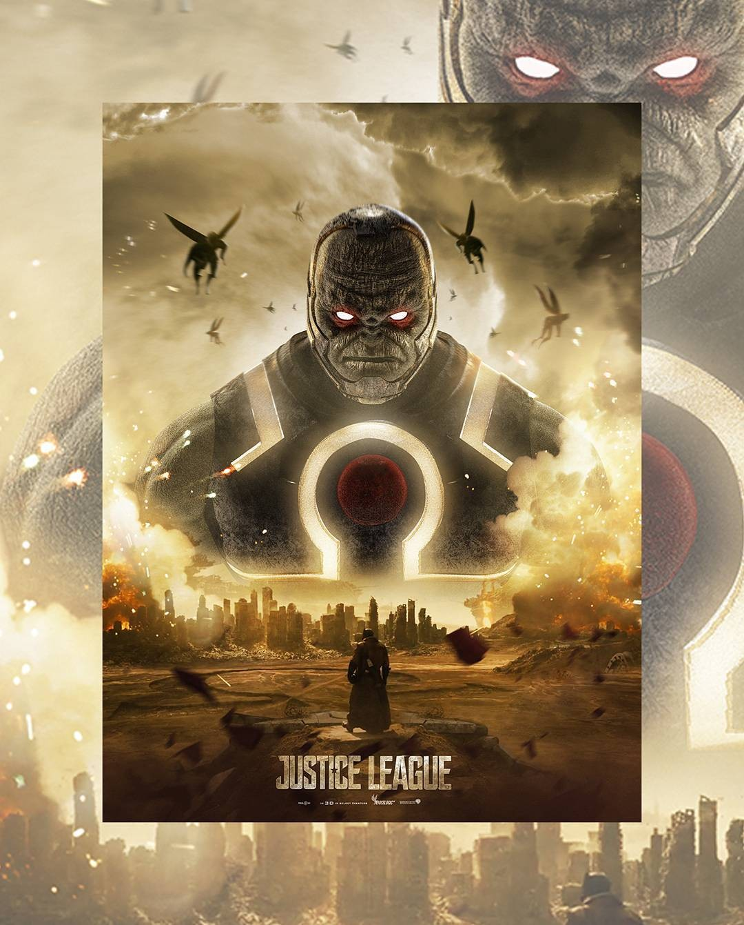 It's Superman Vs. Darkseid On This Epic Fan-Made Justice League Poster