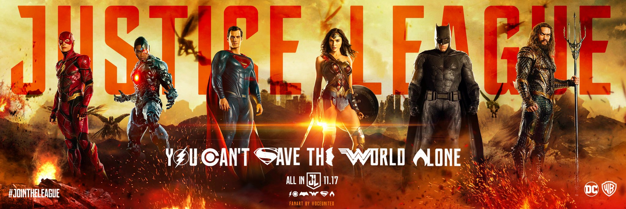 The Man Of Steel Joins The Party On All-New Justice League Banner