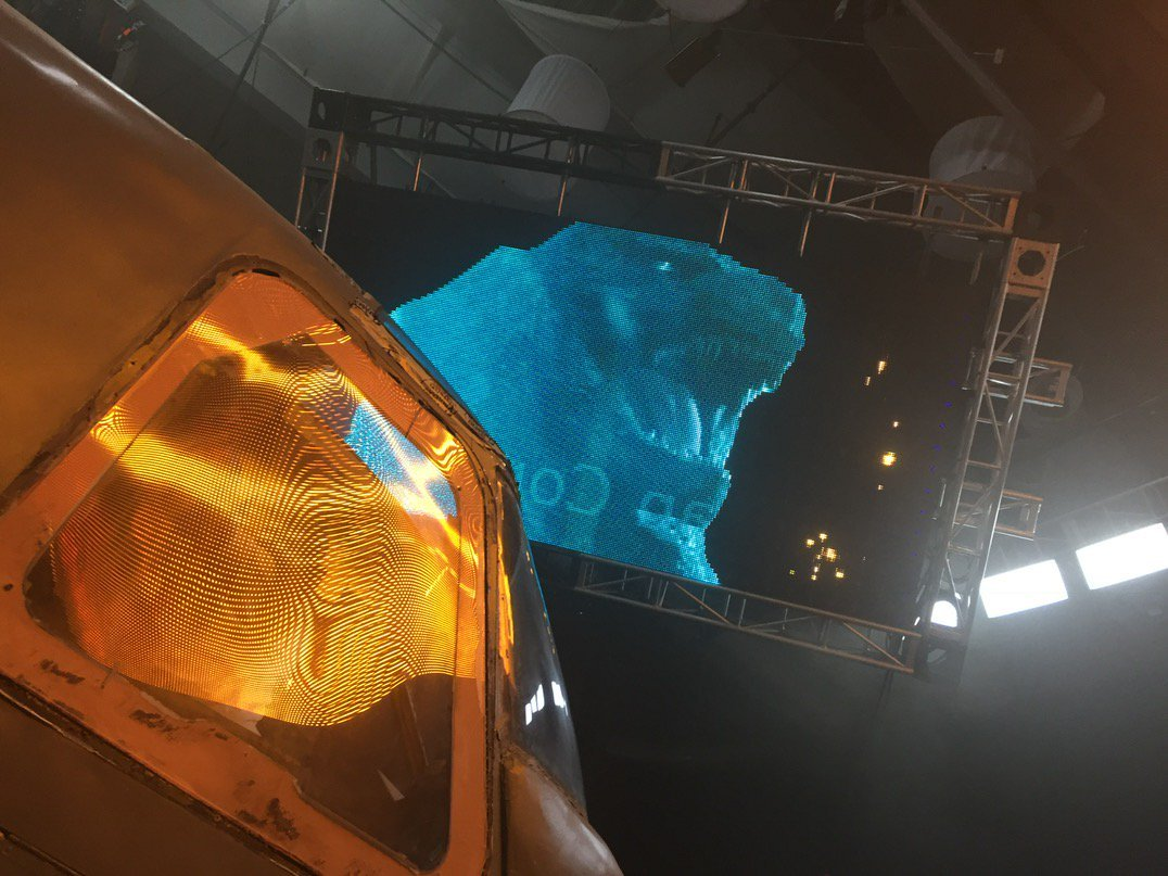 Catch A Sneak Peek Of Gojira In BTS Photo From Godzilla: King Of The Monsters