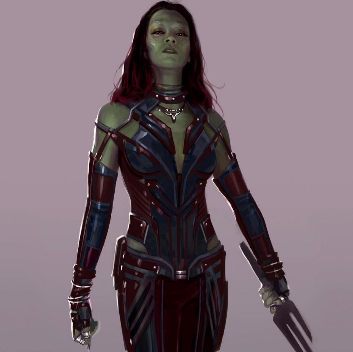 Stellar Artwork For Guardians Of The Galaxy Vol. 2 Unveils A More Comics-Faithful Rendition Of Gamora