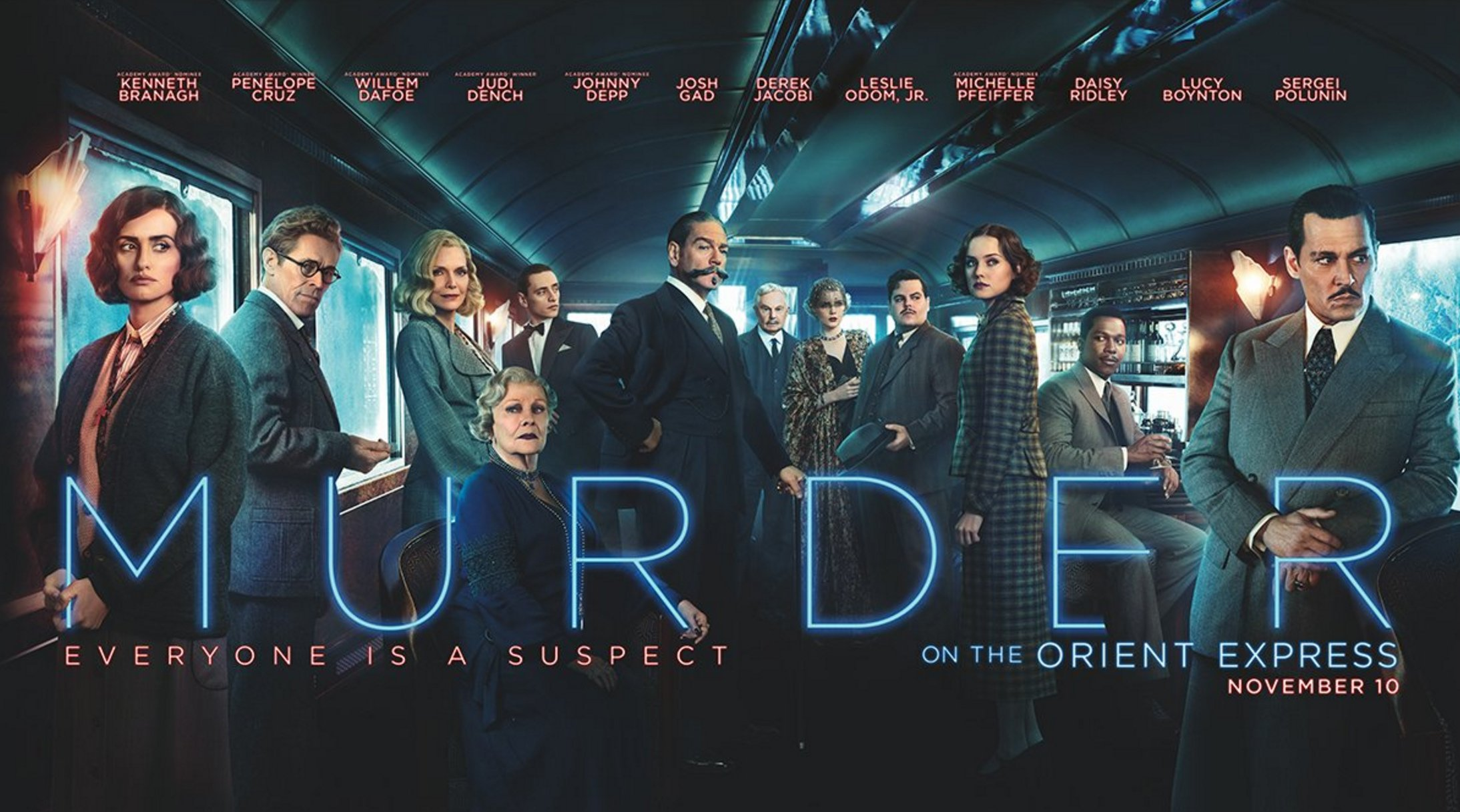 Kenneth Branagh And His Magnificent 'Tache Crack The Case In New Murder On The Orient Express Trailer