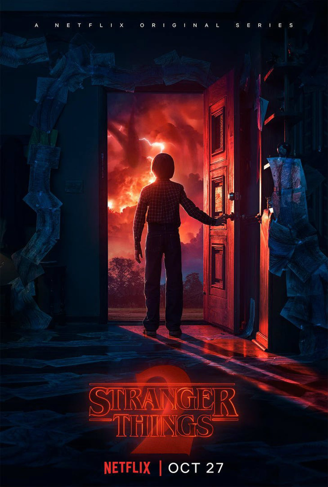 Will Opens The Door To Another Dimension In Latest Stranger Things Season 2 Poster