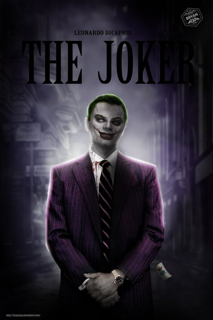 Another Devilish Piece Of Fan Art Paints Leonardo DiCaprio As The Joker