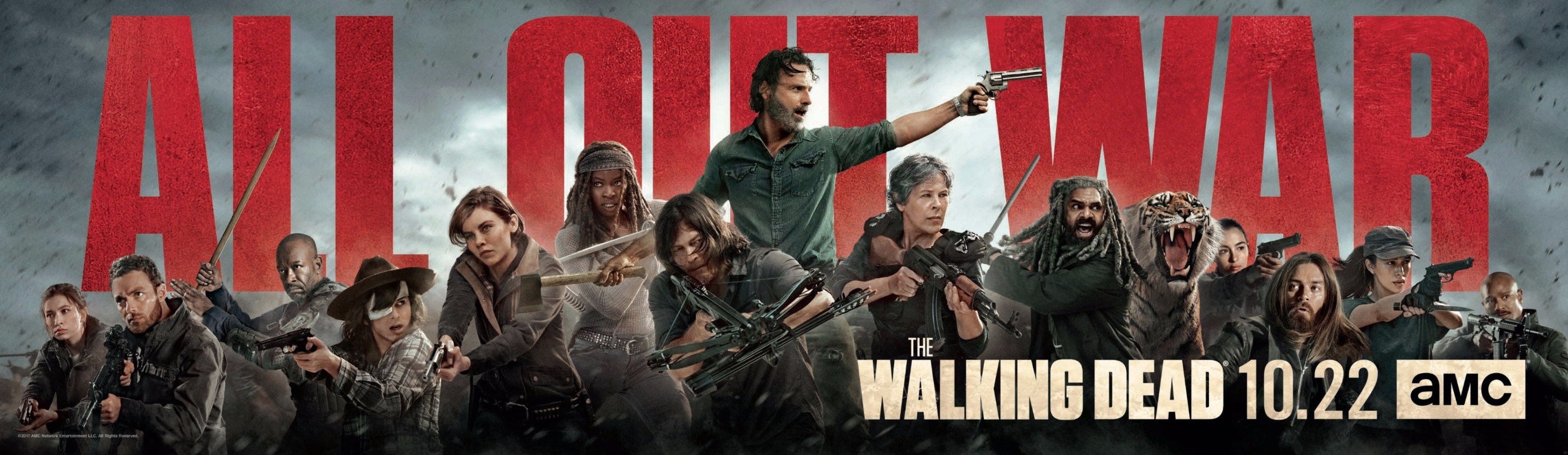 Epic Banner Image For The Walking Dead Season 8 Brings War