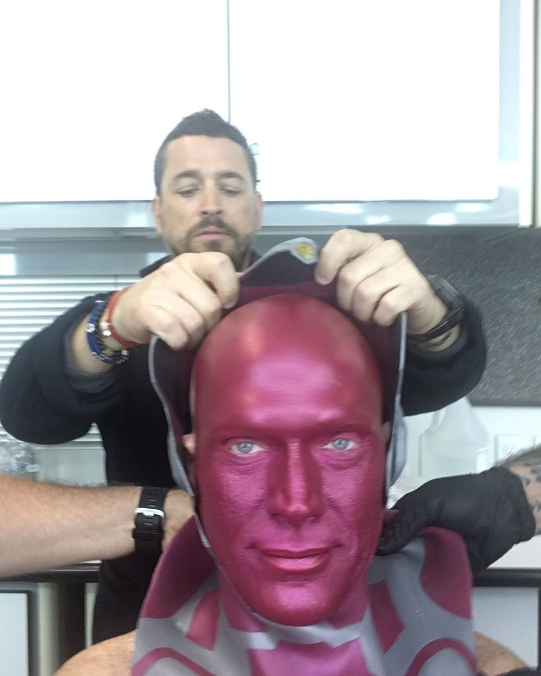 Paul Bettany Becomes Vision In Latest BTS Pic For Avengers 4