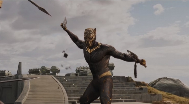 Take A Closer Look At The Golden Jaguar Suit As It'll Appear In Black Panther