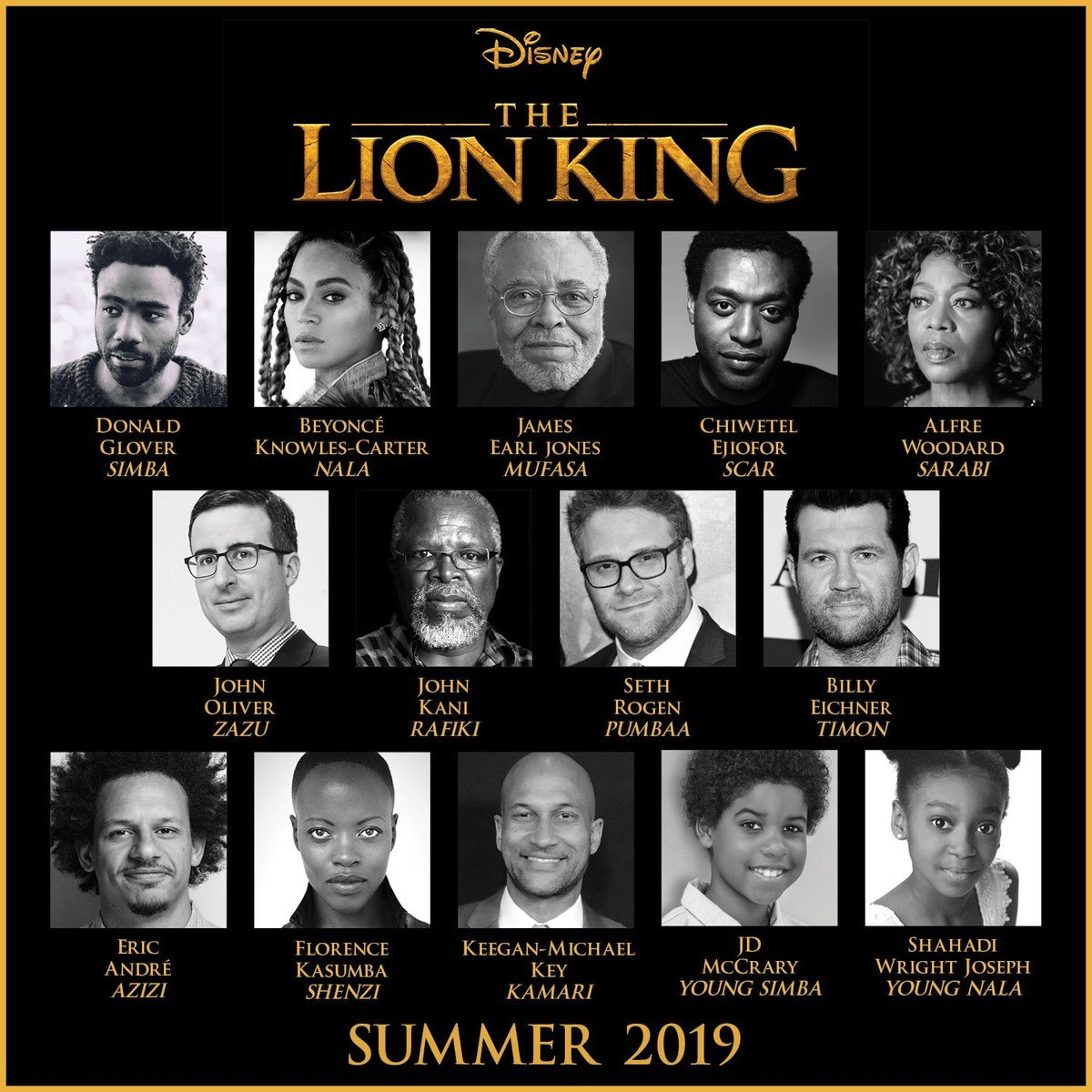 Disney Announces Full Cast For The Lion King Remake, Beyoncé Confirmed For Nala