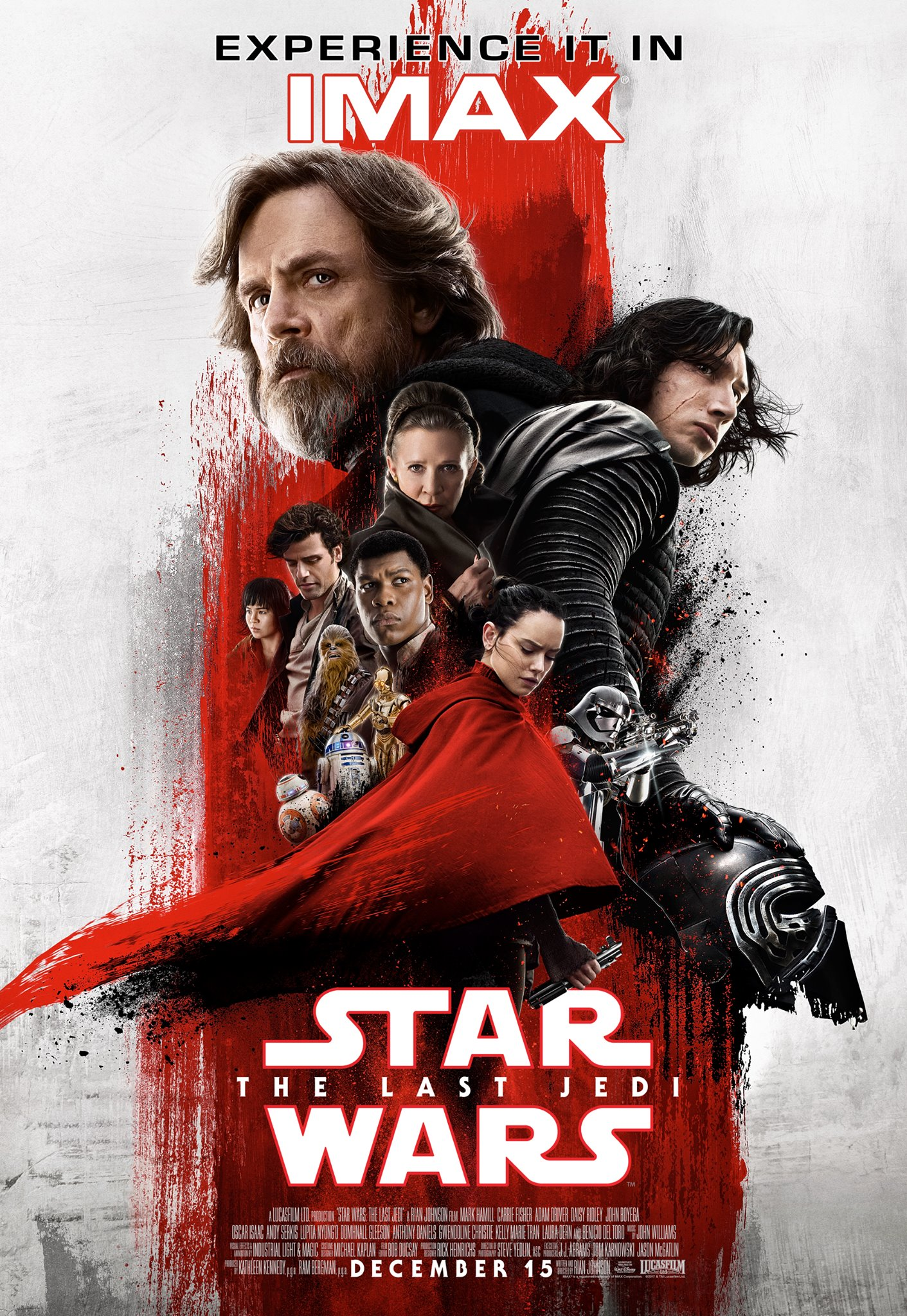 A Brooding Luke Skywalker Looms Over The Latest IMAX Poster For Star Wars: The Last Jedi