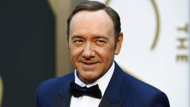Actor Kevin Spacey arrives at the 86th Academy Awards in Hollywood