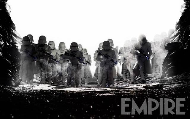 First Order Stormtroopers Attack Crait In New Star Wars: The Last Jedi Photo