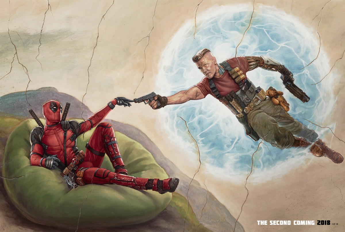 Deadpool and Cable strike a biblical pose in new image