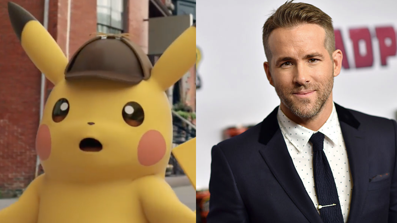 Ryan Reynolds cast as Pikachu in Detective Pikachu movie