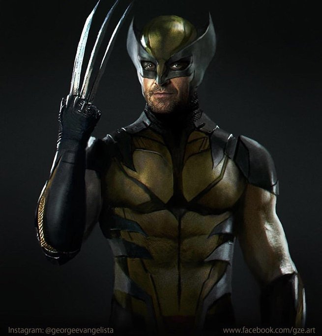 Wolverine Fan Art Imagines Hugh Jackman In The Classic Costume