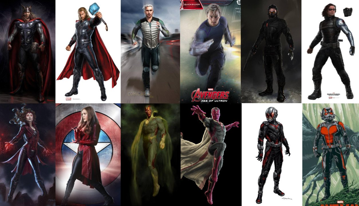 Thor Vision And Others Feature In Dynamic Mcu Concept Art
