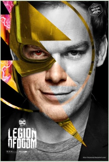 Awesome Fan Art Imagines Dexter's Michael C. Hall As Reverse-Flash