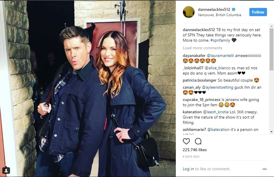 First Look At Danneel Ackles On The Set Of Supernatural