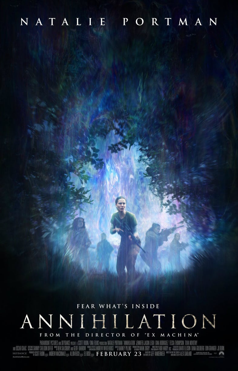 Fear what 39 s inside this new annihilation poster for Inside movie